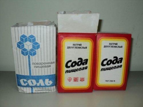 Соль и сода применяются для полосканий