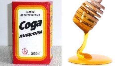 Сода и мед для лечения языка