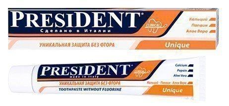 Зубная паста «PRESIDENT Unique»
