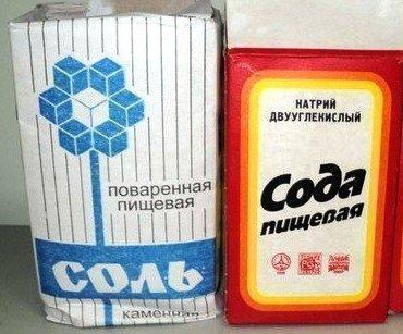 Сода и соль для полоскания