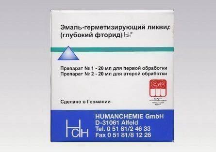 Эмаль-герметизирующий Tiefenfluorid очень эффективный