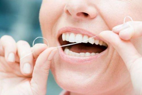 Зубная нить для диагностики