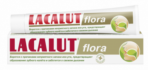 Паста Лакалут Флора устраняет неприятный запах изо рта