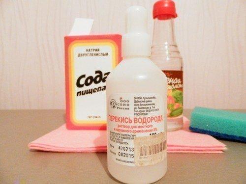 Сода и перекись - отбеливающие средства для эмали зубов