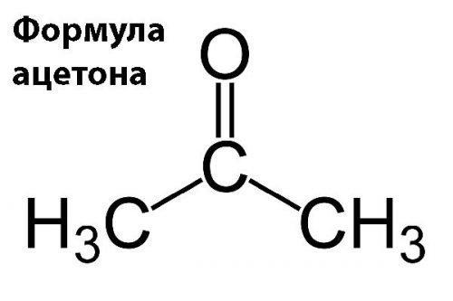Формула вещества ацетон
