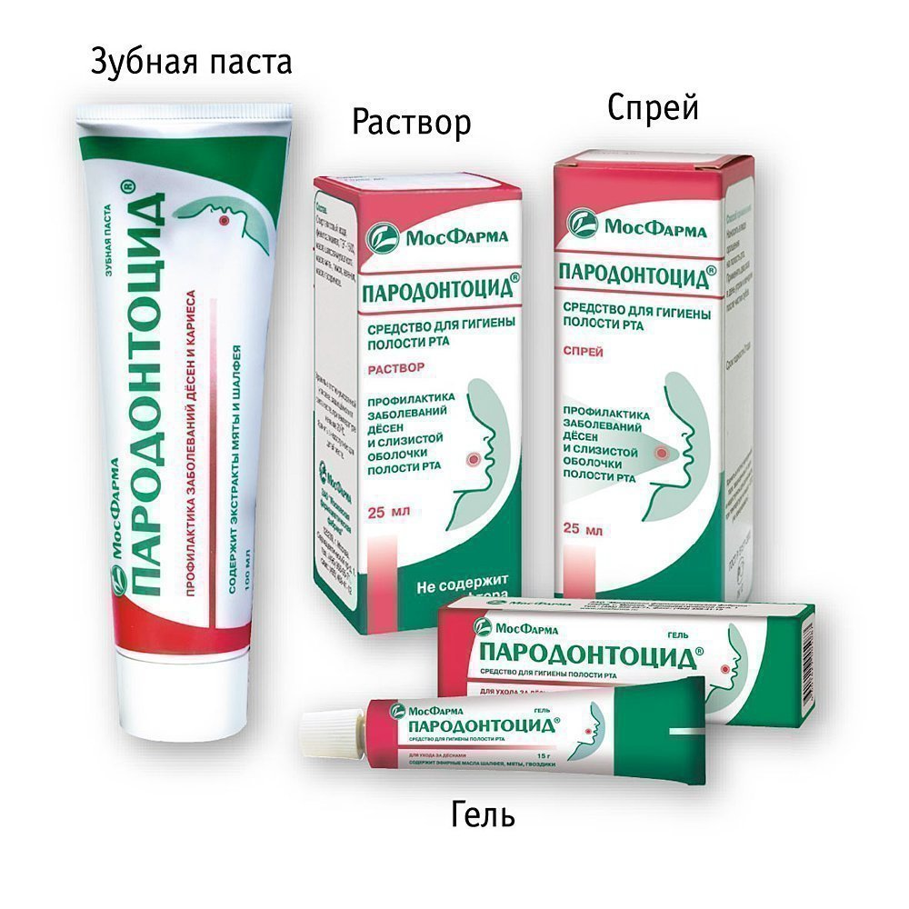 Линейка Пародонтоцид - очень эффективная для десен