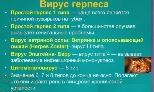 Типы вируса